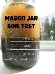 mason jar soil test spring garden