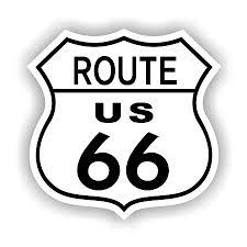 Route 66 Vinyl Die Cut Decal Sticker 4 Sizes 1285
