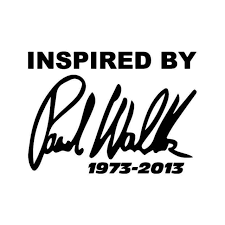 Inspired By Paul Walker Rip Vinyl Decal Sticker