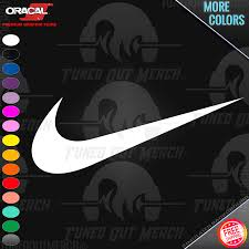 Nike Swoosh Logo Peel N Stick Car Truck Pc Laptop Wall Vinyl Decal Sticker Ebay