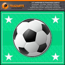 Trazarte Kit Imprimible Pelotas De Futbol Kit Para Facebook