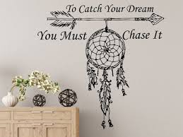 To Catch Your Dream You Must Chase It Quote Wall Decal Etsy