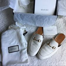 gucci shoes princetown leather mules