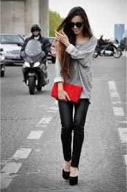 pants fashion black leather pants