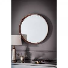 solid warwick large round wall mirror