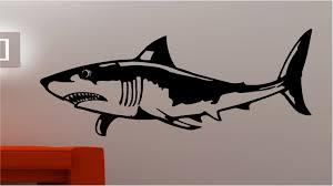 Huge Shark Fish Wall Art Quote Sticker Vinyl Kids Bedroom Ebay