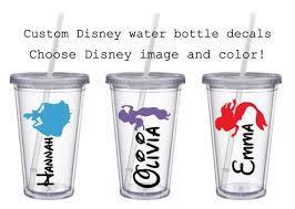 Disney Name Decal Disney Princess Water Bottle Decal Laptop Etsy