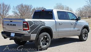 2019 2020 Dodge Ram Rebel 1500 Side Bed Graphics Decals Stripes Reb Sides Vinyl Graphic Kits