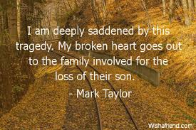 mark taylor quote i am deeply saddened by this tragedy my broken