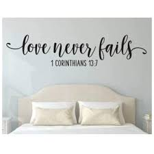 Amazon Com Enid545anne Love Never Fails Decal Vinyl Sticker Bible Verse Wall Decor Wedding Sign Corinthians Vinyl Decal Vinyl Sticker Love Is Patient Love Is Kind Love Never Fails Vinyl Sign Kitchen