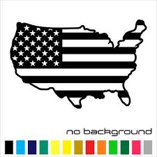 Usa Map And Flag Sticker Vinyl Decal Us United States America Wall Car Window Ebay