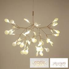 tree branch leaf led pendant light lamp