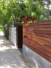Wood Metal And Concrete Fence Wood Fence Design Privacy Fence Designs Fence Design