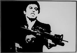 Vinyl Cool Film Scarface Wall Stickers Gangster Mafia Gun Weapon Gunman Decal For Sale Online