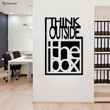 Think Outside The Box Inspire Quote Wall Decals Motivation Office Team Art Decor Room Vinyl Sticker On The Wall Mural H561 Buy At The Price Of 6 34 In Aliexpress Com Imall Com