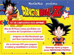 Kit Para Imprimir De Dragon Ball Descarga Gratis