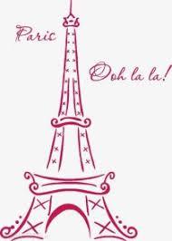 Eiffel Tower Paris Ooh La La Wall Decal Patronen Logo S Gebouwen