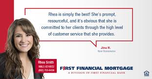 Rhea Smith is the Vice President of... - First Financial Bank ...