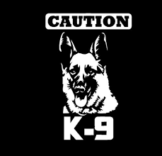 Caution K 9 Police Dog Vinyl Decal Sticker For Car Window Wall Laptop Glass German Shepherd Wish