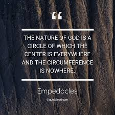 the nature of god is a circle of which empedocles about nature