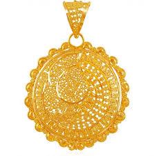 22kt big round gold pendant aspe60904