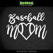 Baseball Mom Team Mom Baseball Style2 5 Vinyl Decal Sticker Choose Color Ebay