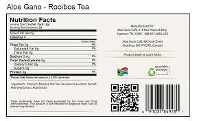 rooibos nutrition facts chlorella brands