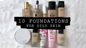 10 foundations for oily skin