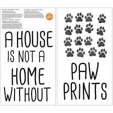 paw prints wall quote decal