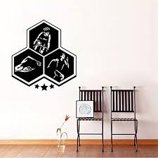 Amazon Com Fifikoj Fashion Extreme Sport Triathlon Wall Sticker Gym Boys Kids Room Pvc 53cm58cm Home Kitchen