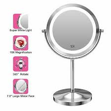 lighted makeup mirror double sided
