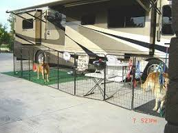 Customer Dog Kennels Photos Dog Kennel Reviews And Comments About Our Dog Kennels By Options Plus Rv Dog Fence Rv Dog Dog Kennel
