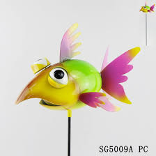 metal garden art ornaments fish crafts