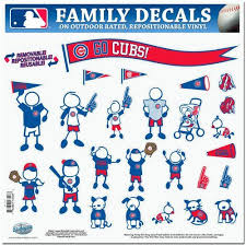Chicago Cubs Mlb Family Car Decal Set Large Family Decals Family Car Decals Chicago Bears