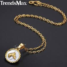 trendsmax horse head pendant necklace