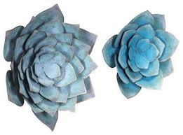 zuo modern lotus large wall decor blue
