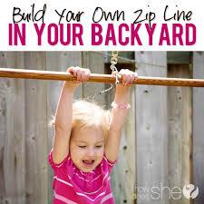 build your own zip line