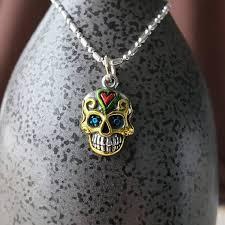 sterling silver skull pendant charm