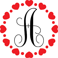 Heart Circle Vinyl Monogram Decal Downey S Creations