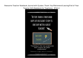 awesome teacher notebook journal quotes thank you retirement le