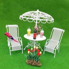 doll house metal garden table chairs