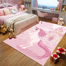 Pink 3d Unicorn Children S Rug Baby Game Crawling Floor Mat Girls Best Loved Bedroom Decoration Carpets Kids Room Play Area Rugs Carpet Aliexpress