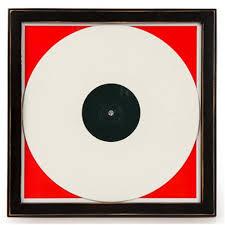 crosley wood vinyl record frame black