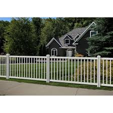 Wambam Fence 4 Ft H X 7 Ft W Premium Vinyl Yard And Pool Fence Panel With Post And Cap Vf13002 The Home Depot