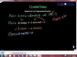 line tangent to trig function