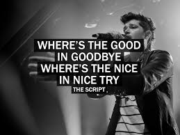 where s the good in goodbye where s the nice in nice try the