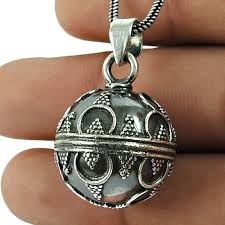 ball pendant 925 sterling silver jewelry