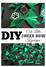 cute little cheer bow keychains