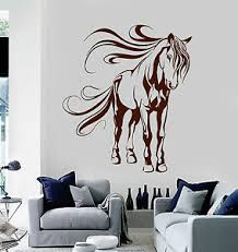 Vinyl Wall Decal Beautiful Horse Animal House Interior Stickers Ig4127 Ebay