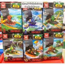 Lắp ráp xếp hình lego ninjago tm6003 : 6 ninja hải tặc và thuyền ...